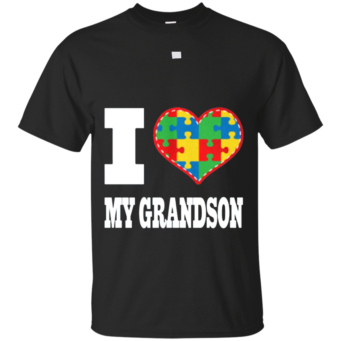 Autism Shirt - I Love My Grandson - Autism Awareness T-Shirt