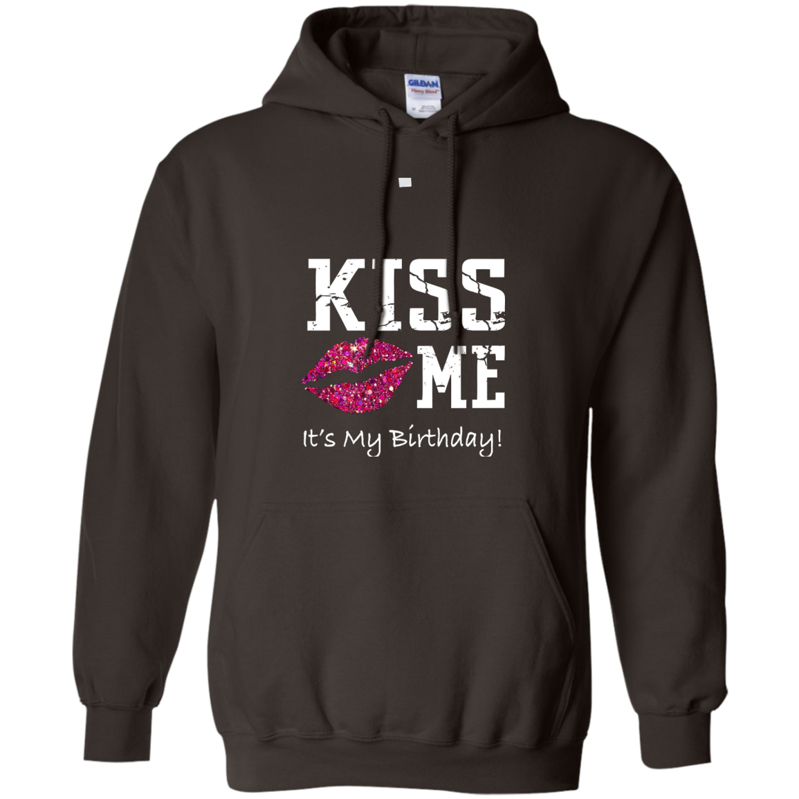 Kiss Me It's My Birthday Shirt - Pink Glitter Kiss Bday Tee