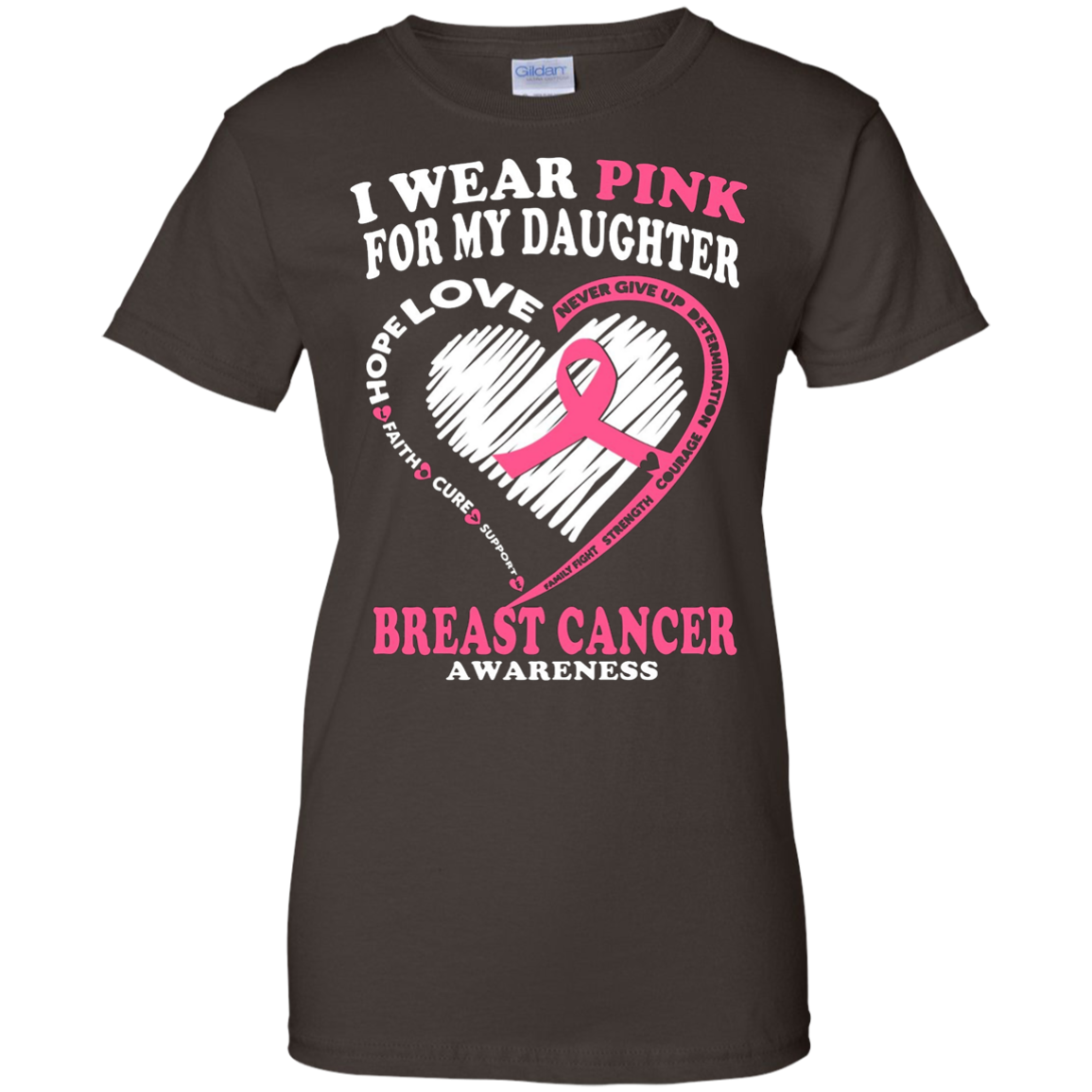 Breast Cancer Awareness Shirt - I Wear Pink For My Daughter