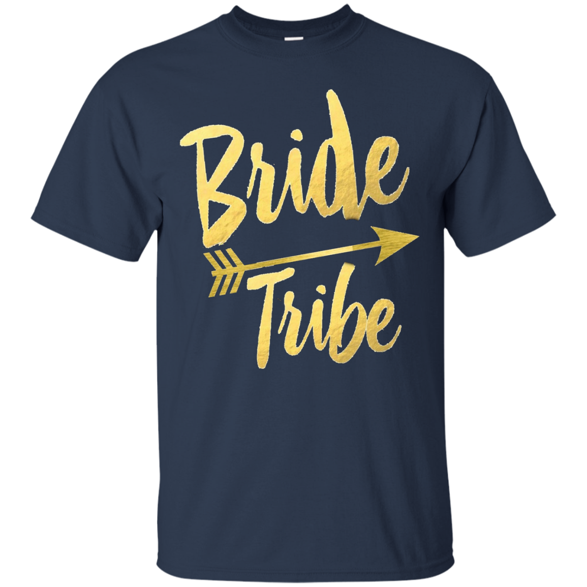 Bride Tribe Shirt Arrow Gold Foil Bachelorette Wedding Hens