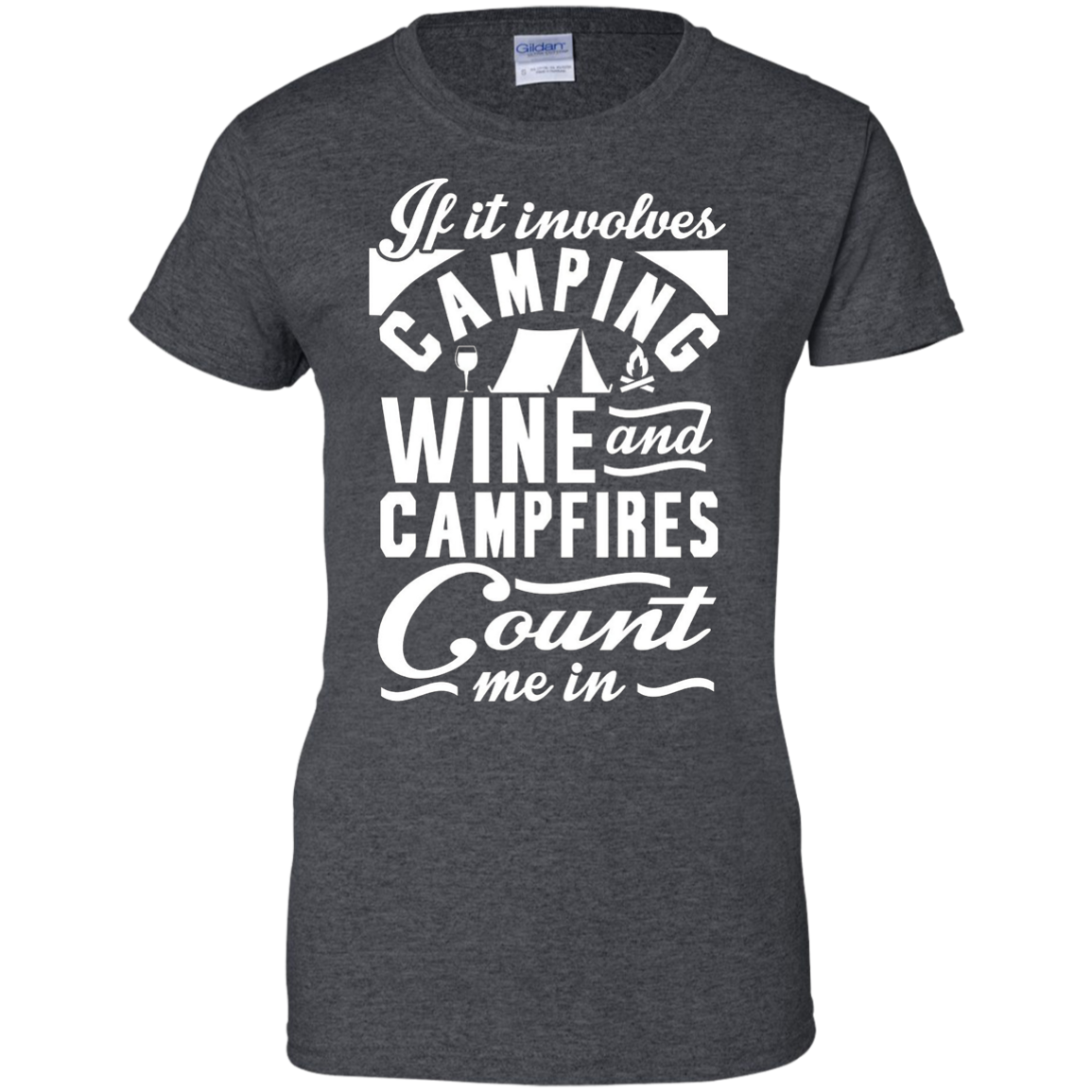 Camping Wine and Campfires Women Men T shirts