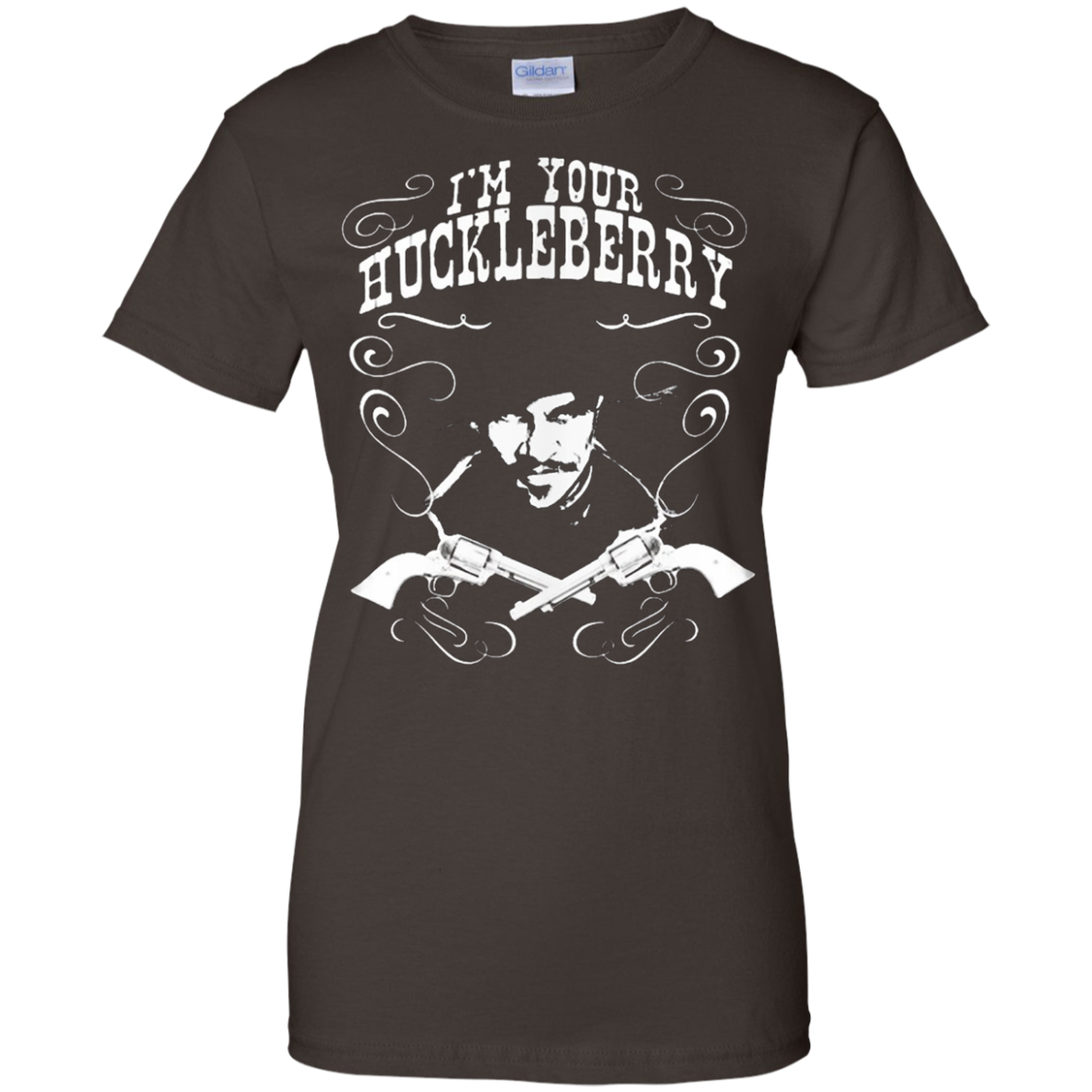 Doc Holliday I'm Your Huckleberry Tombstone Silhouette Shirt