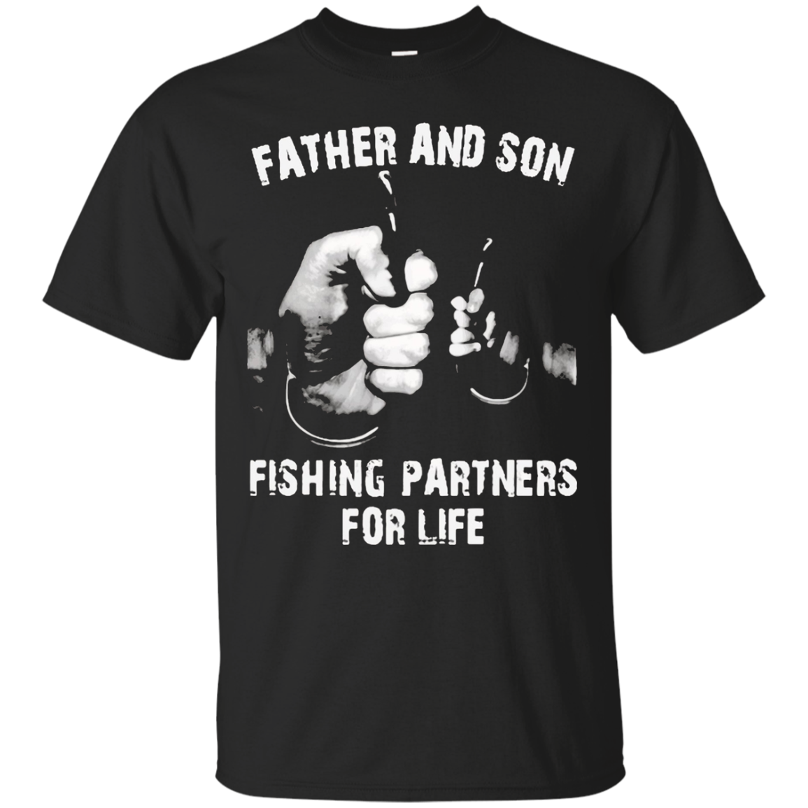 father and son Fishing Partners For Life shirt