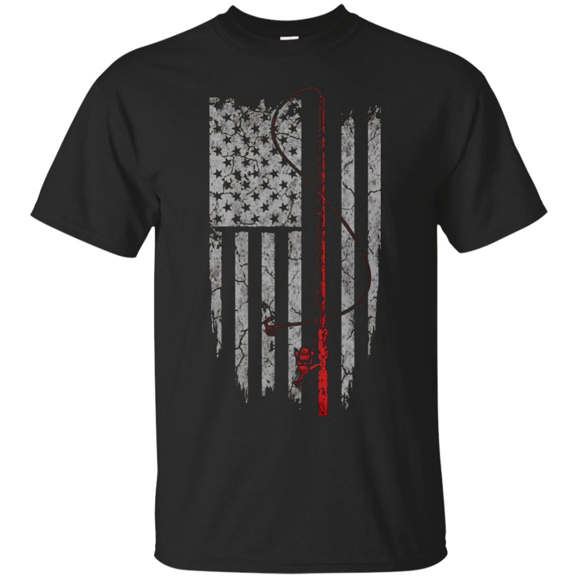 Fishing US Flag Shirt