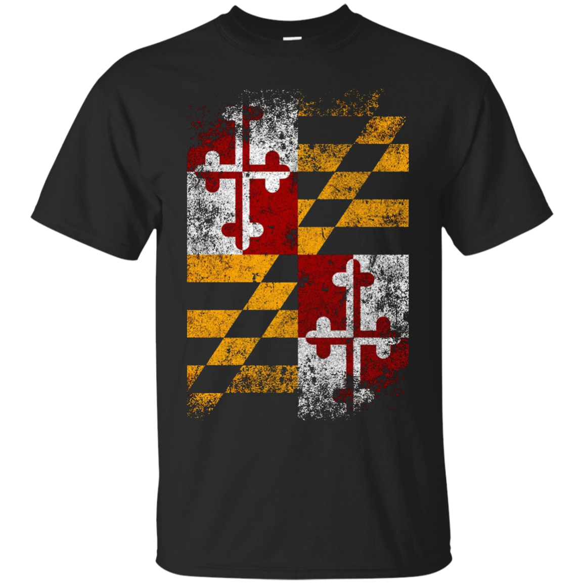 Maryland State Flag Vintage Distressed Aged Look T-Shirt