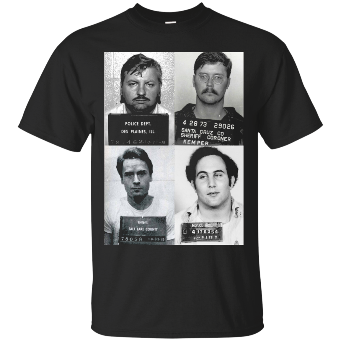 Serial Killers Mugshot T-Shirt