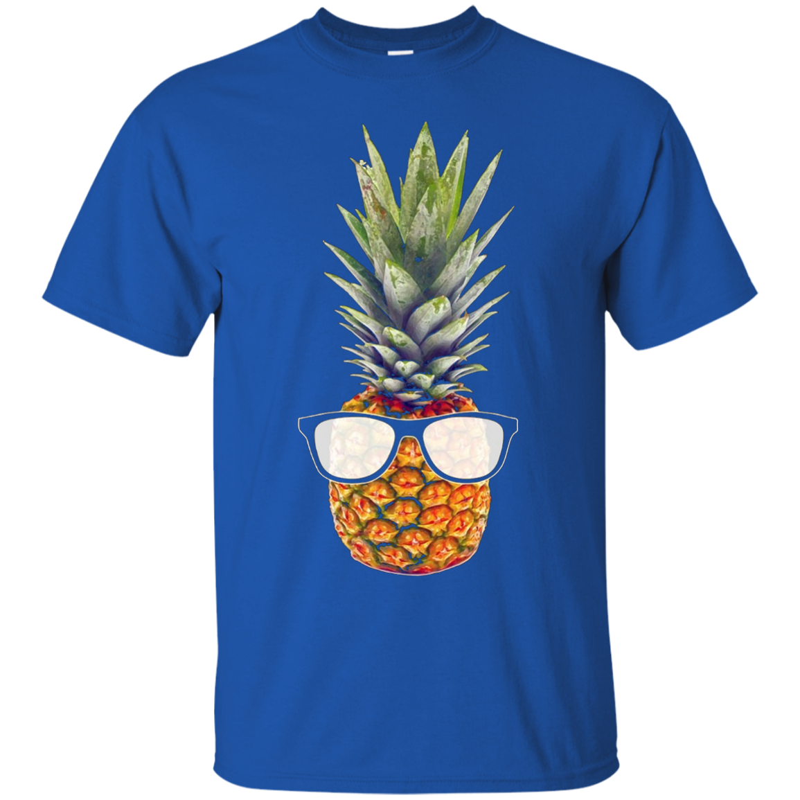 Cool Pineapple Graphic T-Shirt with Black Sunglasses Black