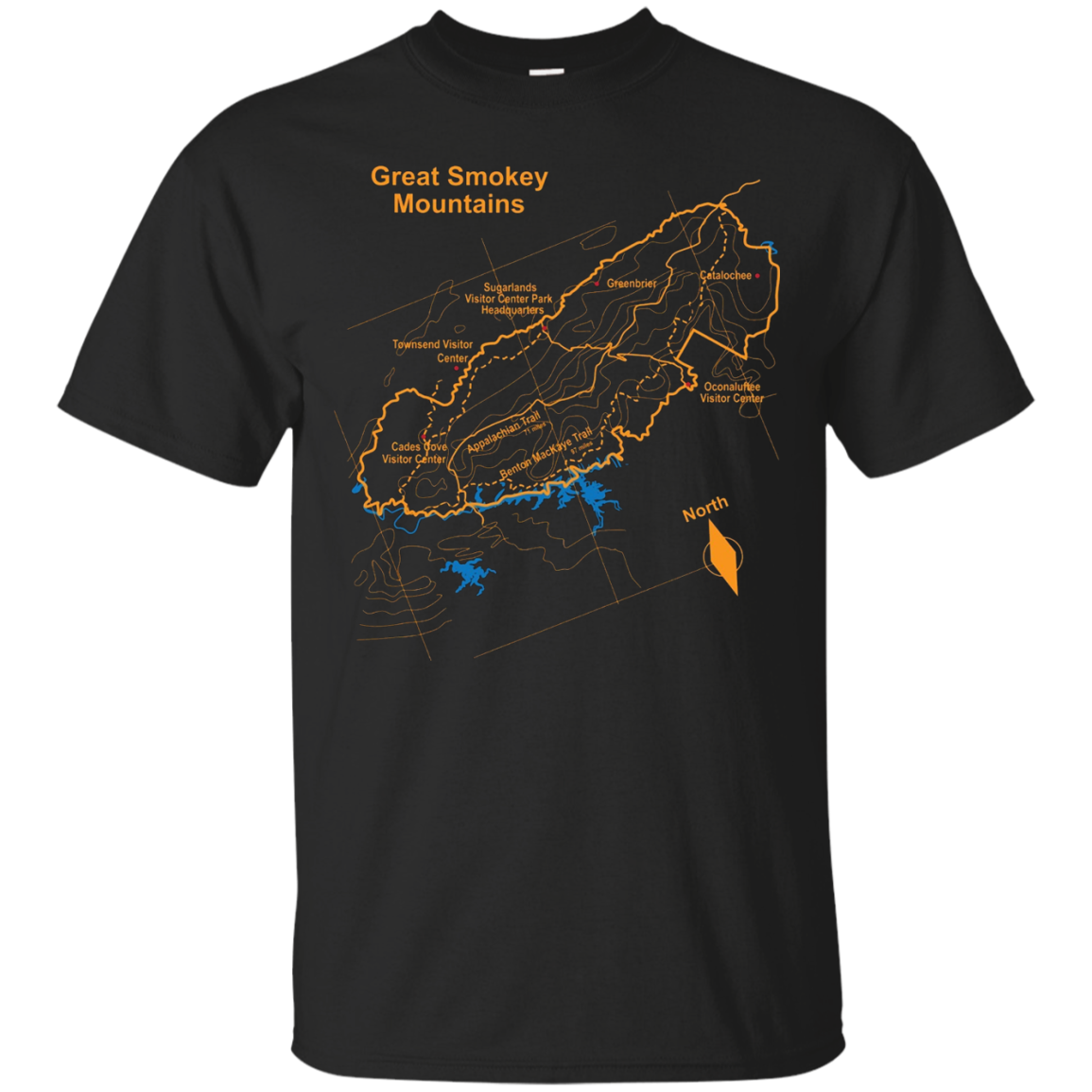 Great Smoky Mountains National Park Trails Hiking T-Shirt