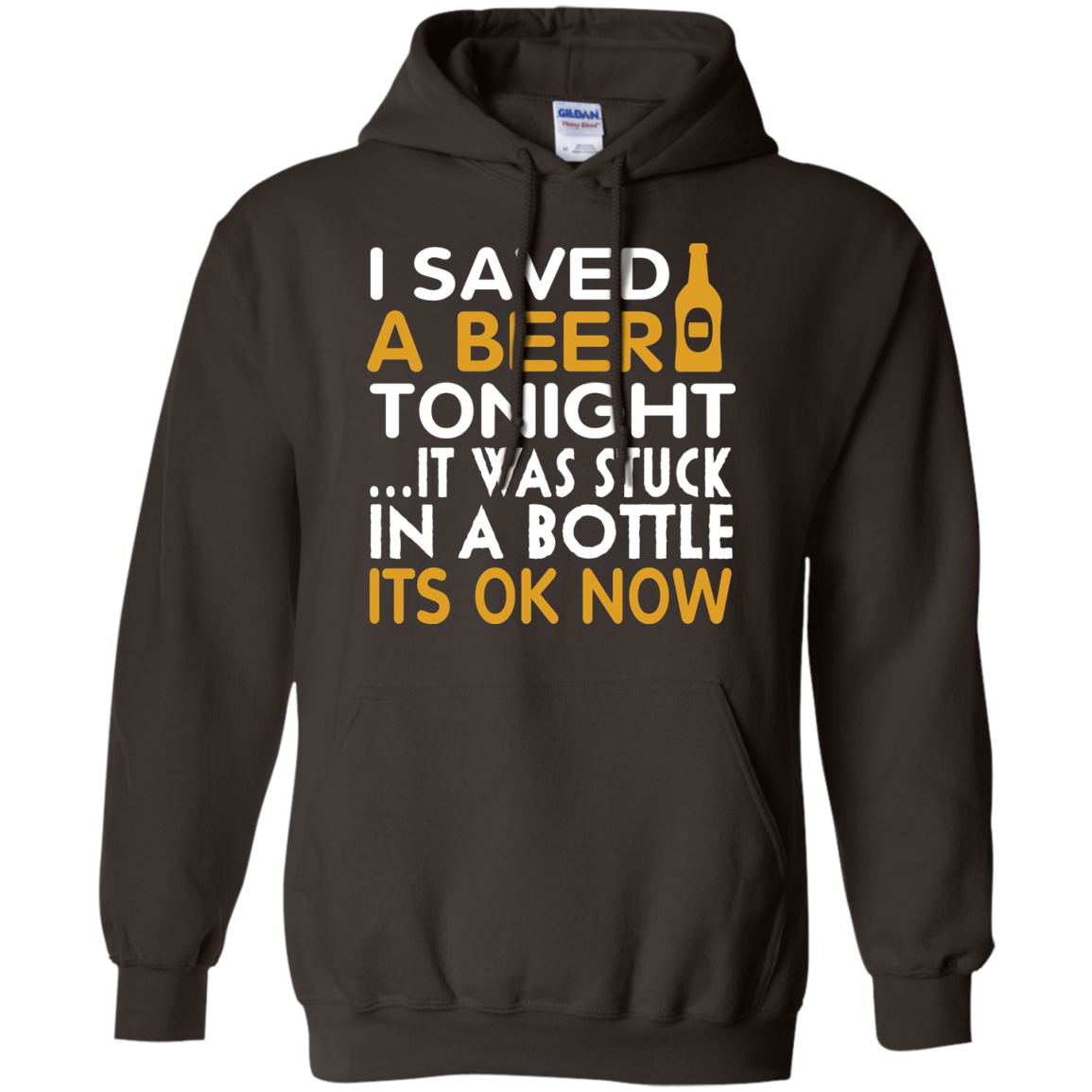 I Saved A Beer Tonight It Was Stuck In A Bottle Tshirt
