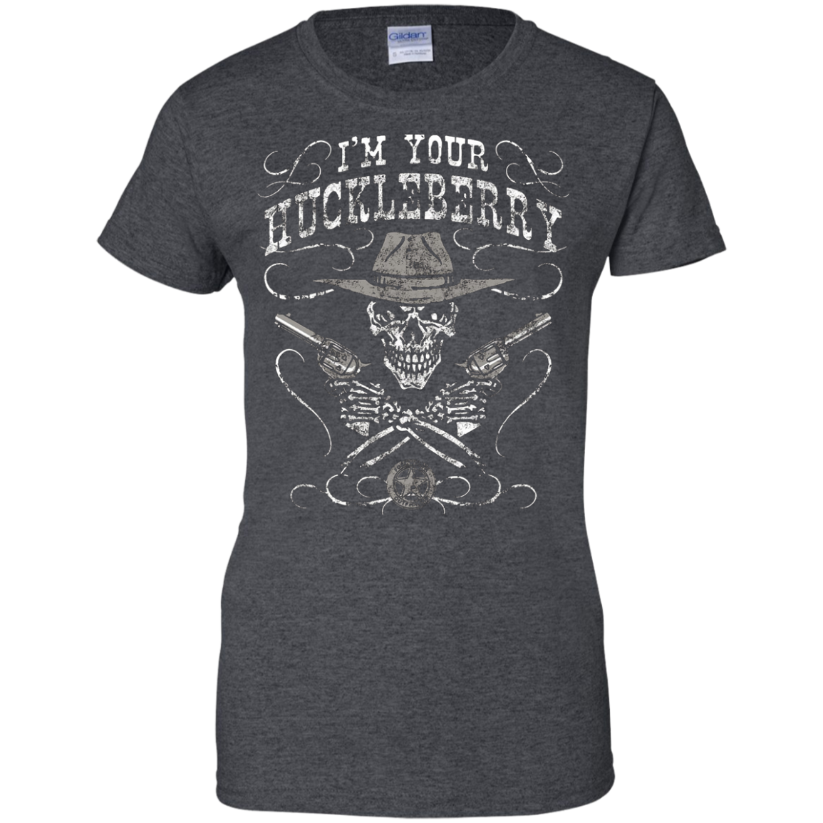 I'm Your Huckleberry Skull Gun Tee Shirt