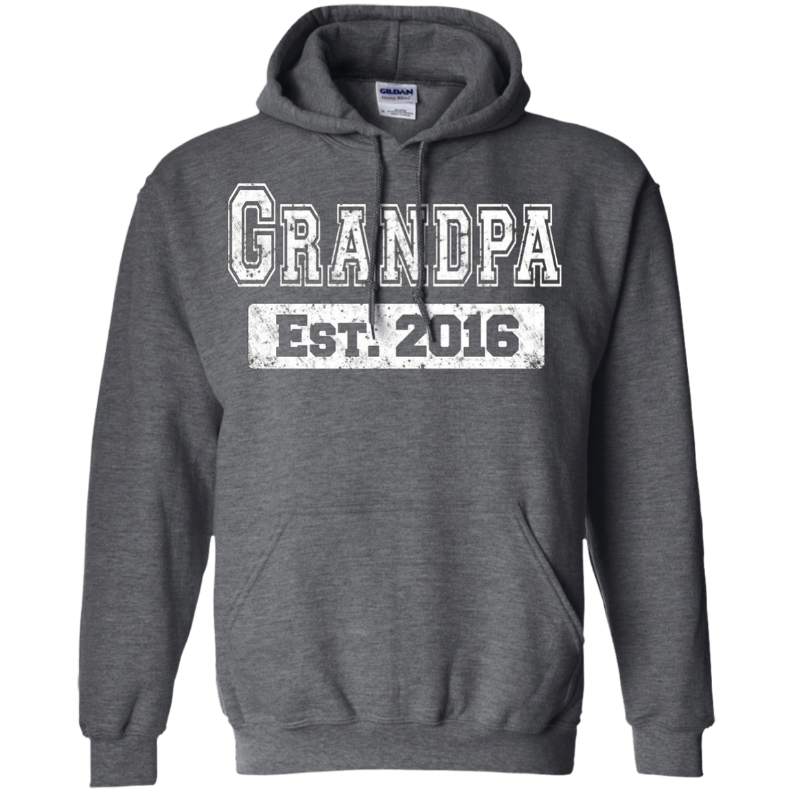 Men's Father's Day T-Shirt 2016 First Time Grandpa Gift Shirts