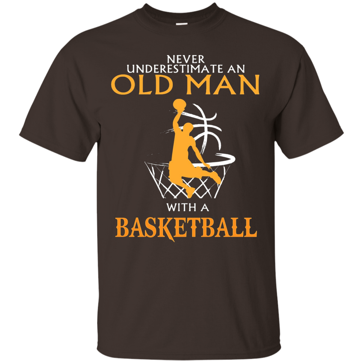 Men's Never underestimate an old man with a Basketball - Shirt