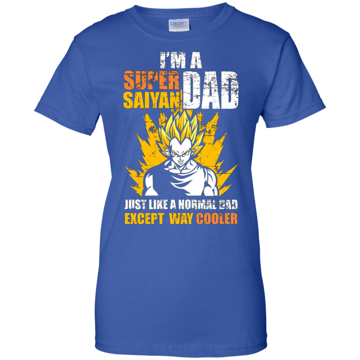 Men's Super Saiyan Dad T-Shirt Funny Father's Day Gift DBZ Lovers