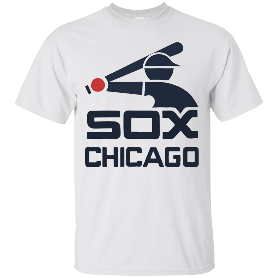 Love Chicago's White Baseball Team Sox T-Shirt