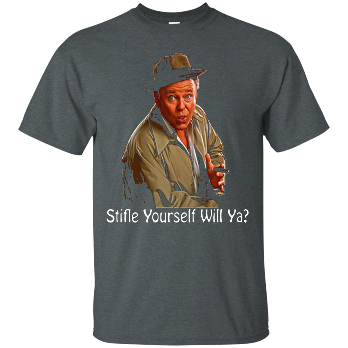 All In The Family Archie Bunker Stifle Yourself Black Shirt