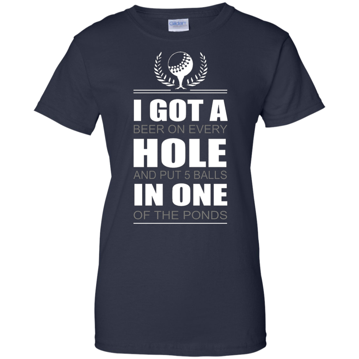 FUNNY GOLF HOLE IN ONE T SHIRT Golf Beer Pond
