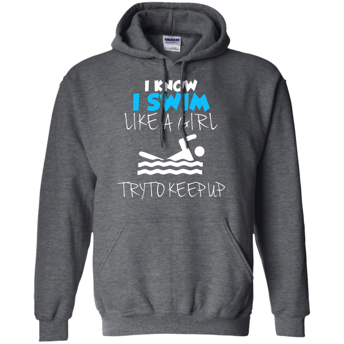 I Know I Swim Like A Girl Swimming T Shirt