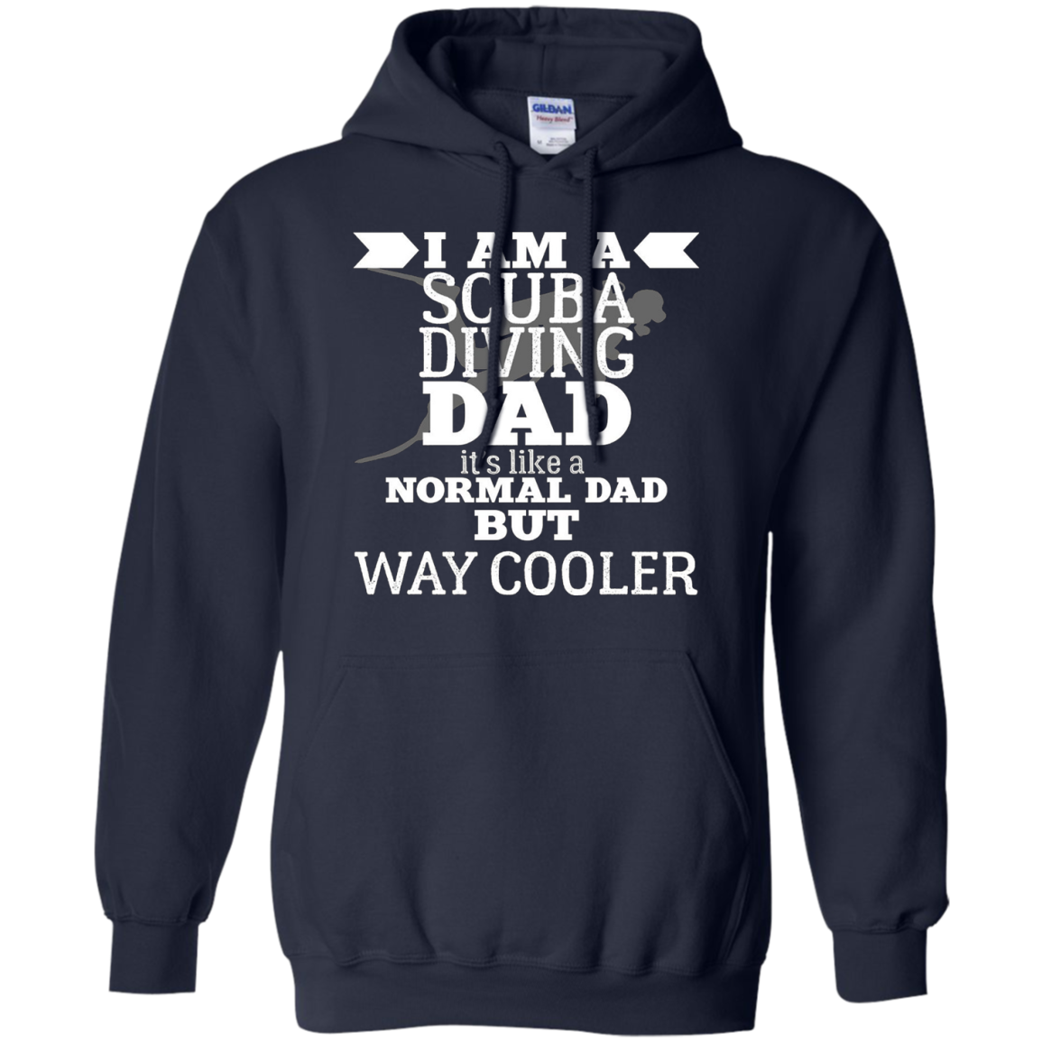 Men's I'M A SCUBA DIVING DAD T-SHIRT FUNNY FATHER'S DAY HUMOR GIFT