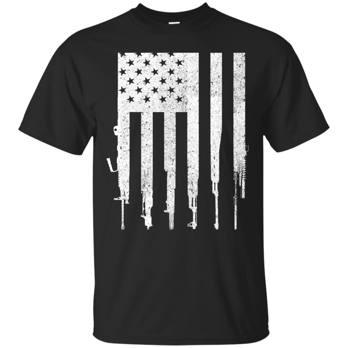 Men's Rifle American Flag Shirt Gun Rights T Shirt