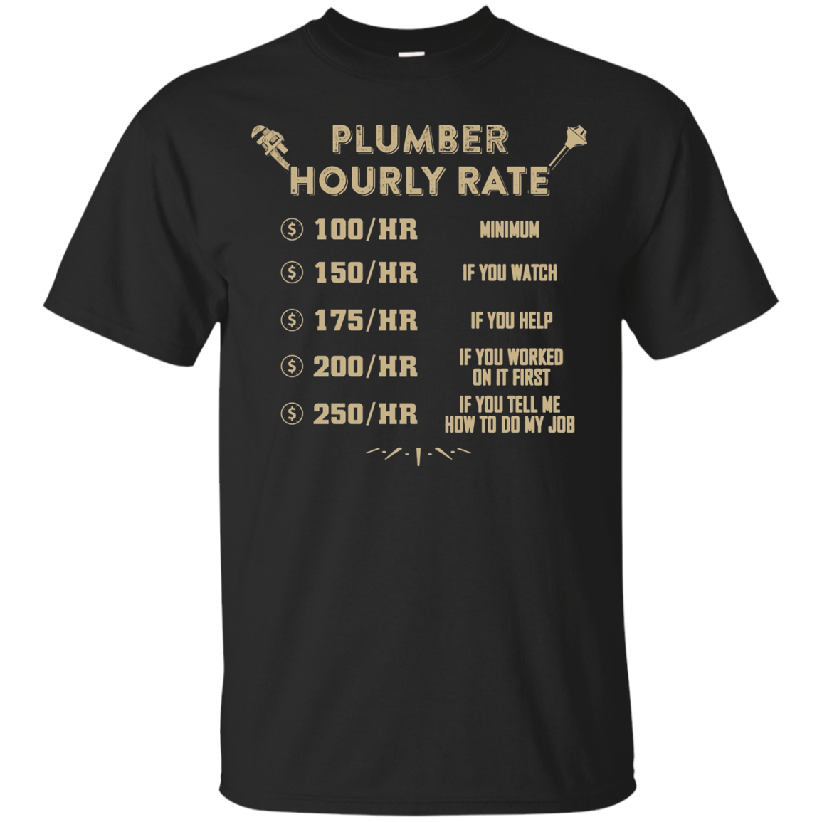Plumber T-shirt , Plumber Hourly Rate