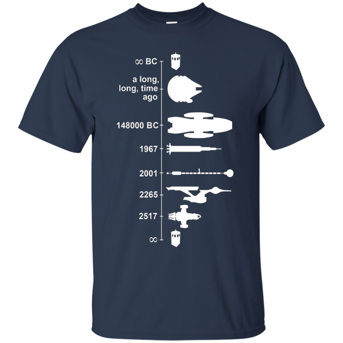 SPACE SHIP TIMELINE T-Shirt