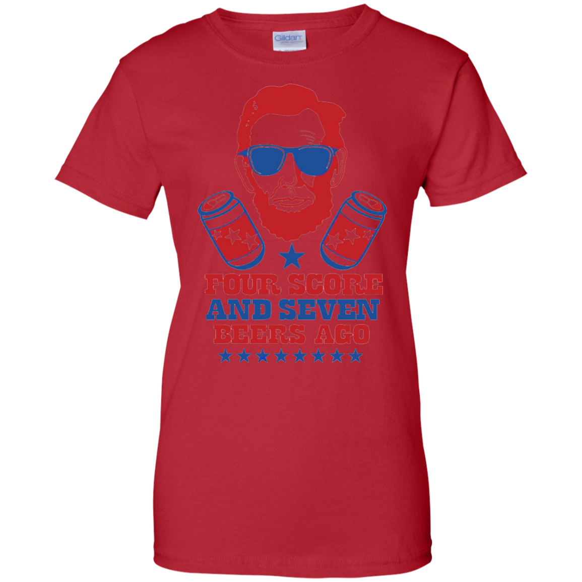 Four Score And Seven Beers Ago T-shirt - 4th Of July Shirts