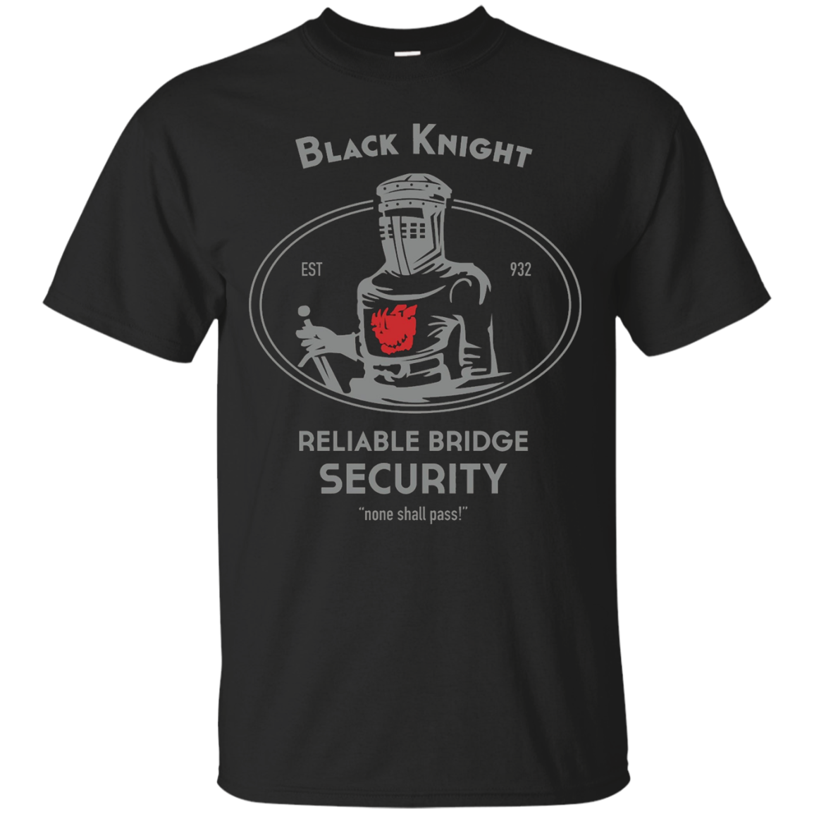 Black Knight Reliable Bridge Security T shirt