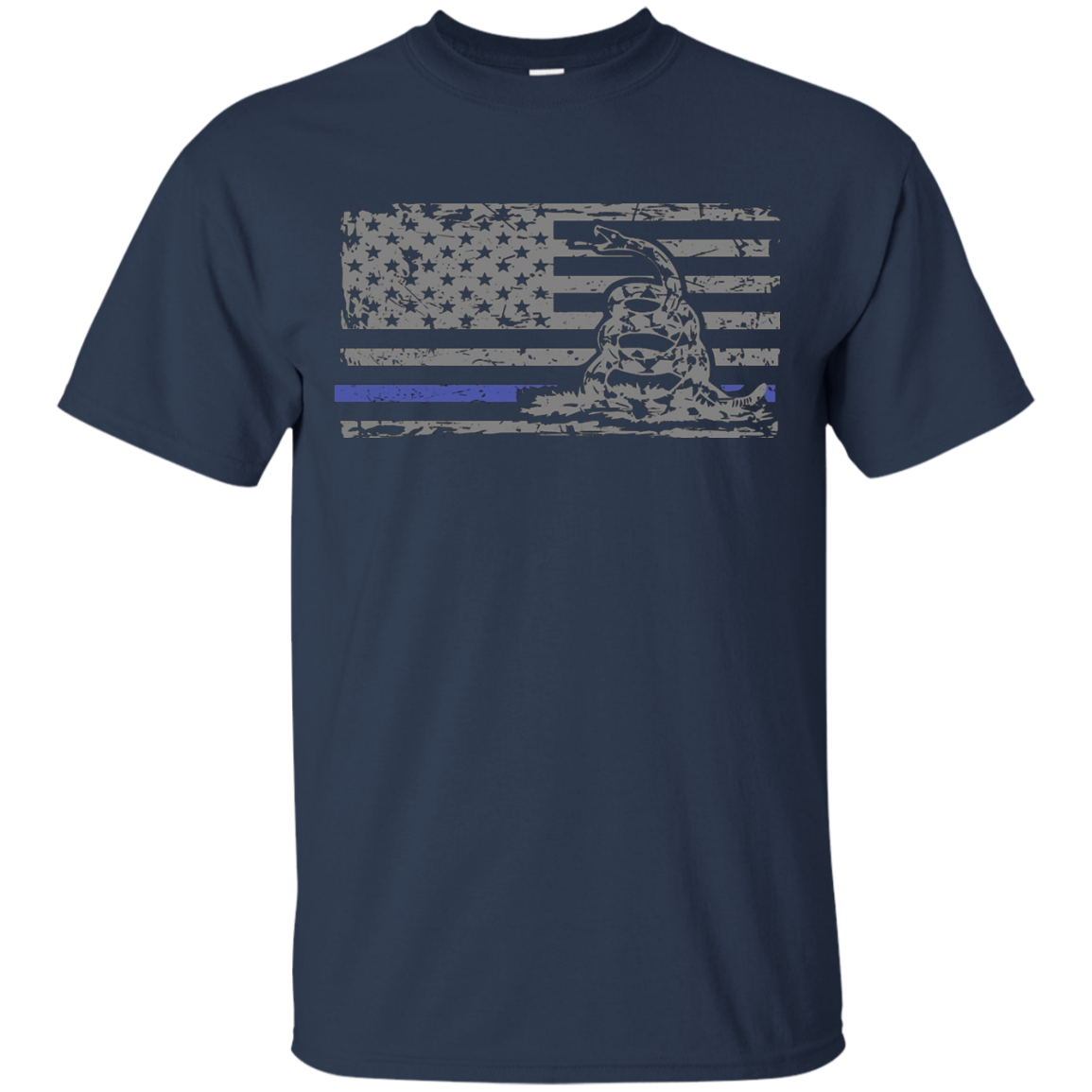 Don't Tread on Me Thin Blue Line Flag Police Support T Shirt