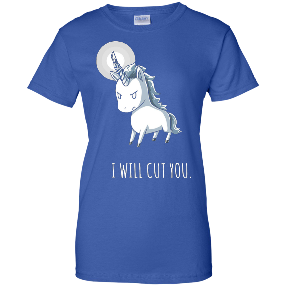 I Will Cut You - Stabby The Unicorn T Shirt
