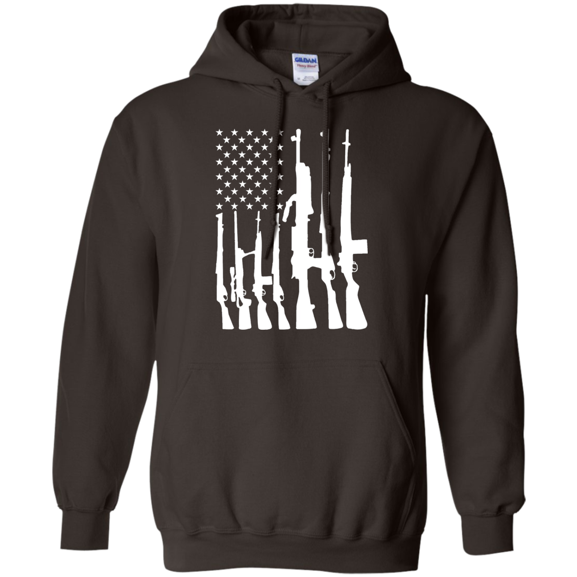 Men's Never Disarm Rifle American Flag With Gun Rights T Shirt