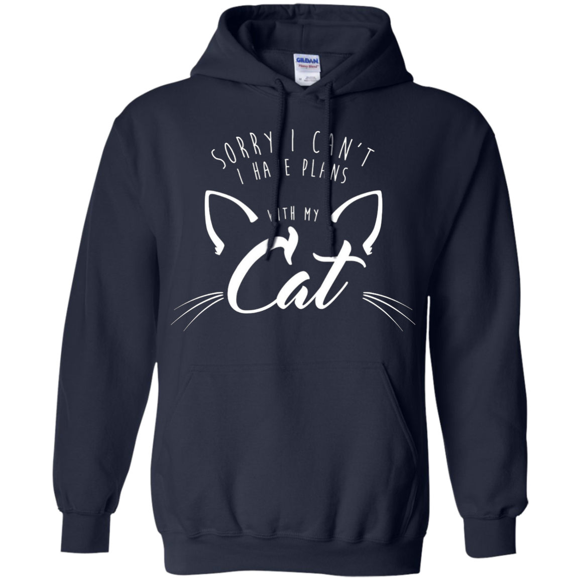 Sorry I Can't, I Have Plans With My Cat Shirt 2 Script Funny