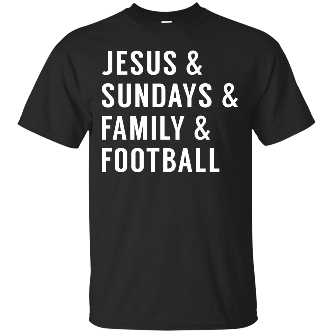 Jesus Sundays Family Football T shirt