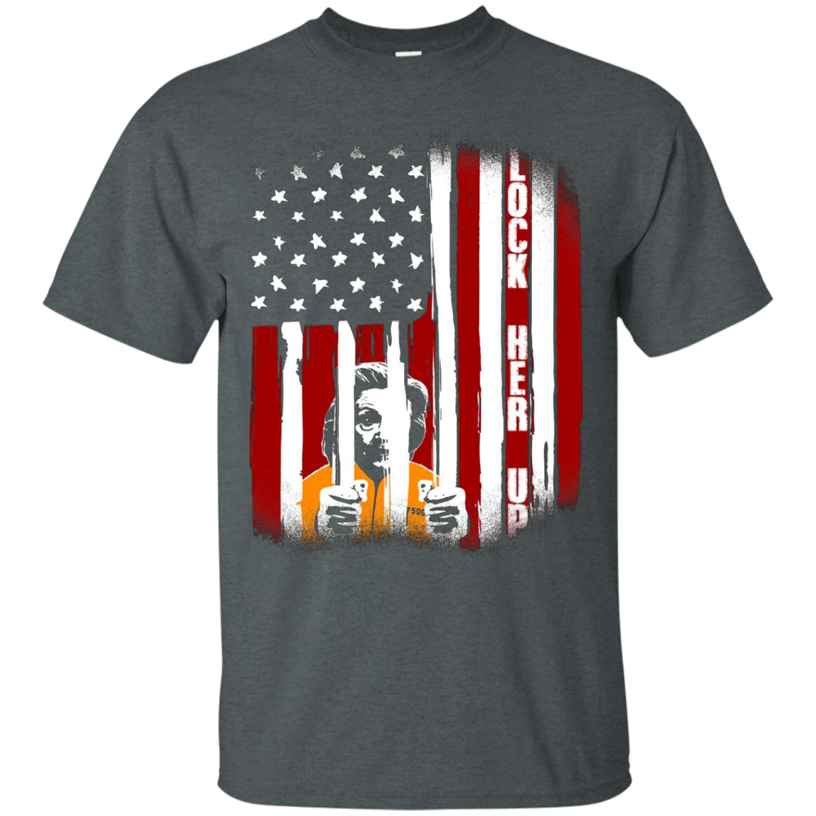 LOCK HER UP Hillary Clinton Political Graphic T-shirt