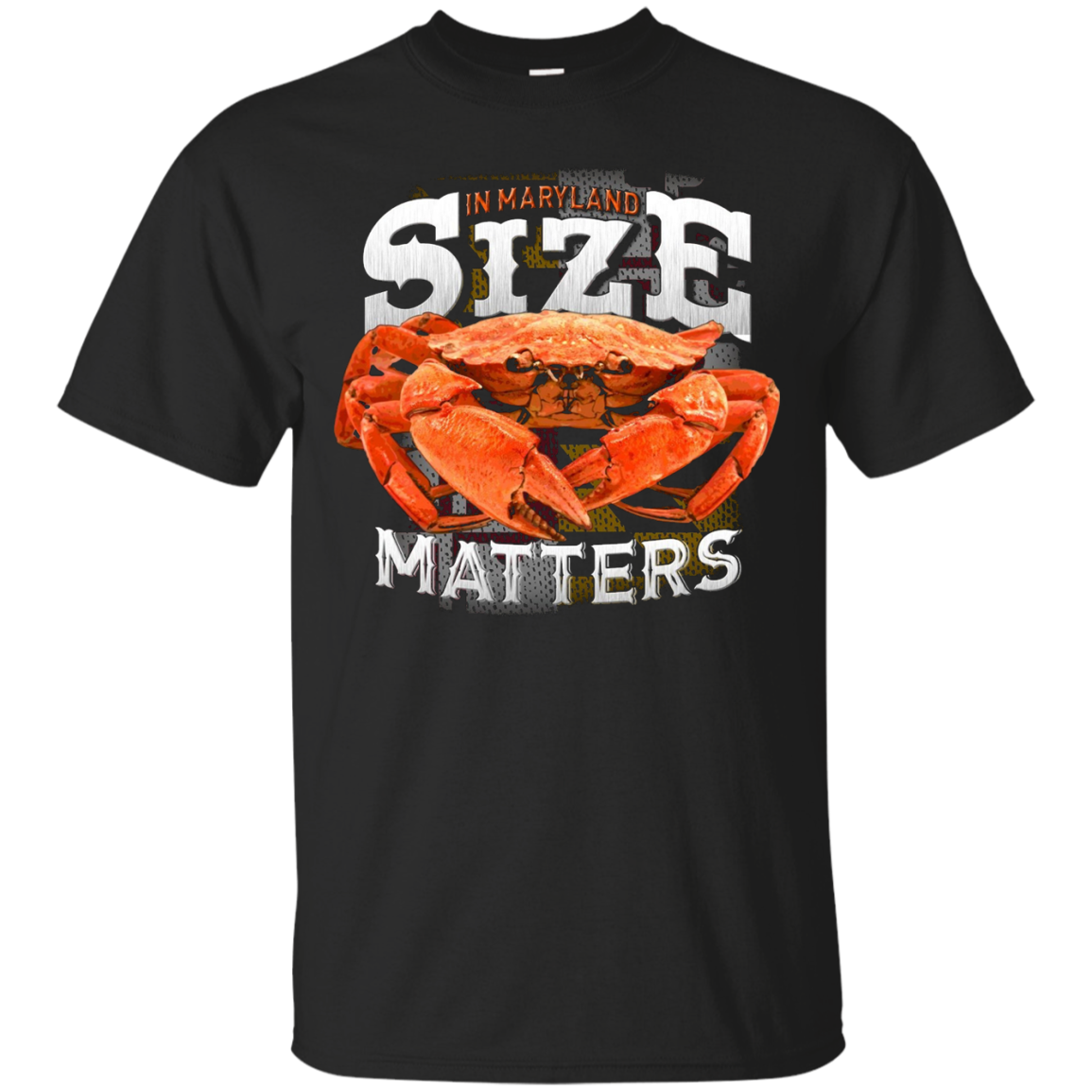 SIZE Matters (in Maryland) Blue Crab T shirt