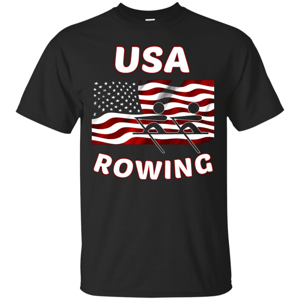USA Rowing Flag, American Gift T Shirts