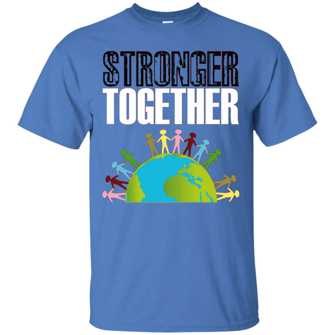 Black and White Togetherness Shirt-Stronger Together T-Shirt