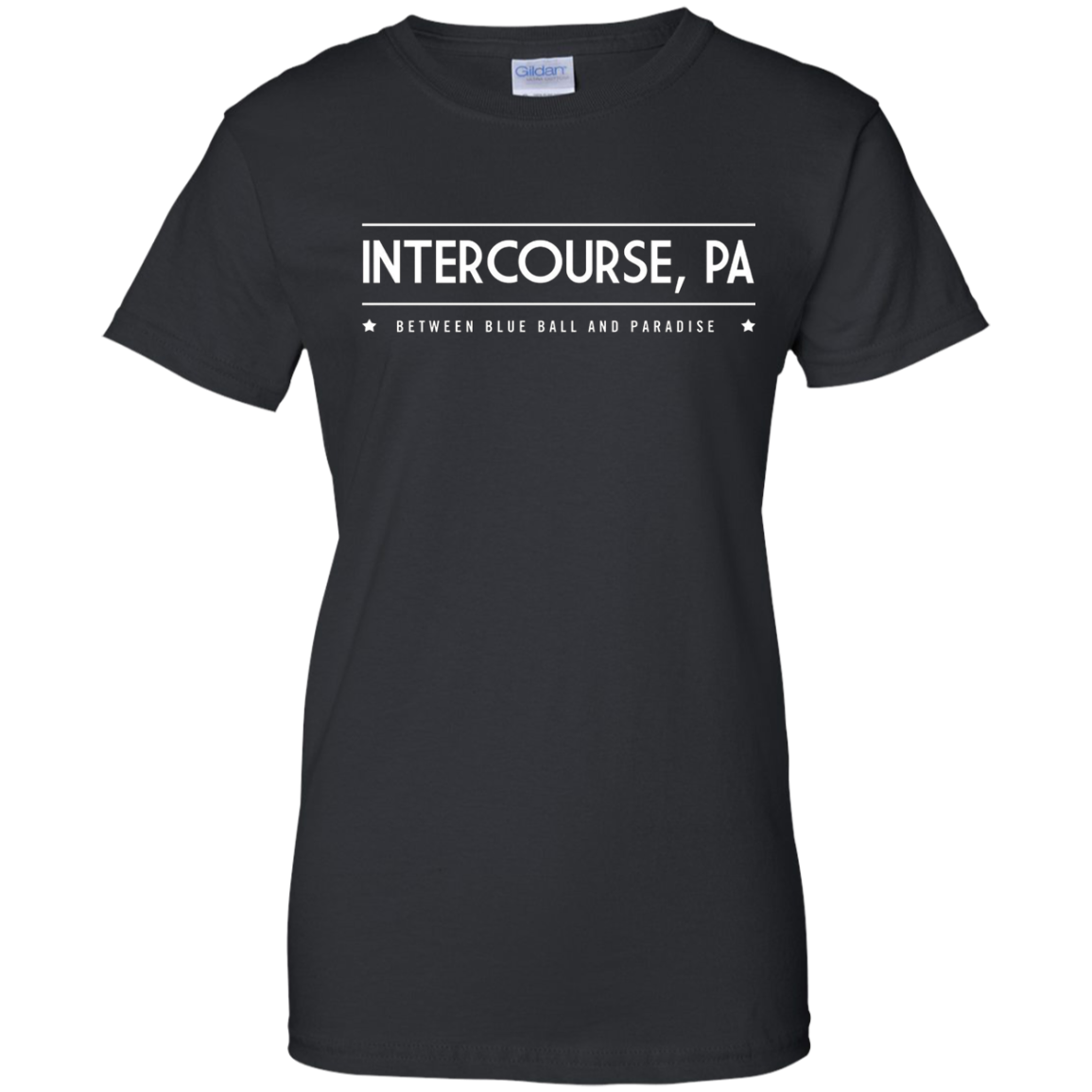Intercourse PA T-Shirt - Between Blue Ball and Paradise Tee