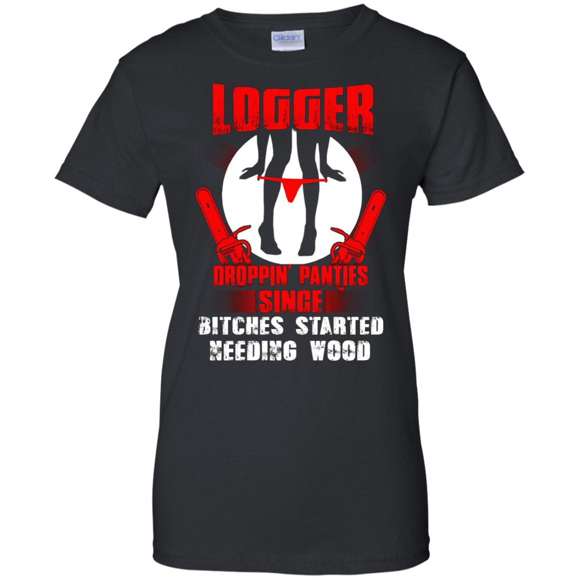 Awesome funny t-shirt logger dropping panties great gift.
