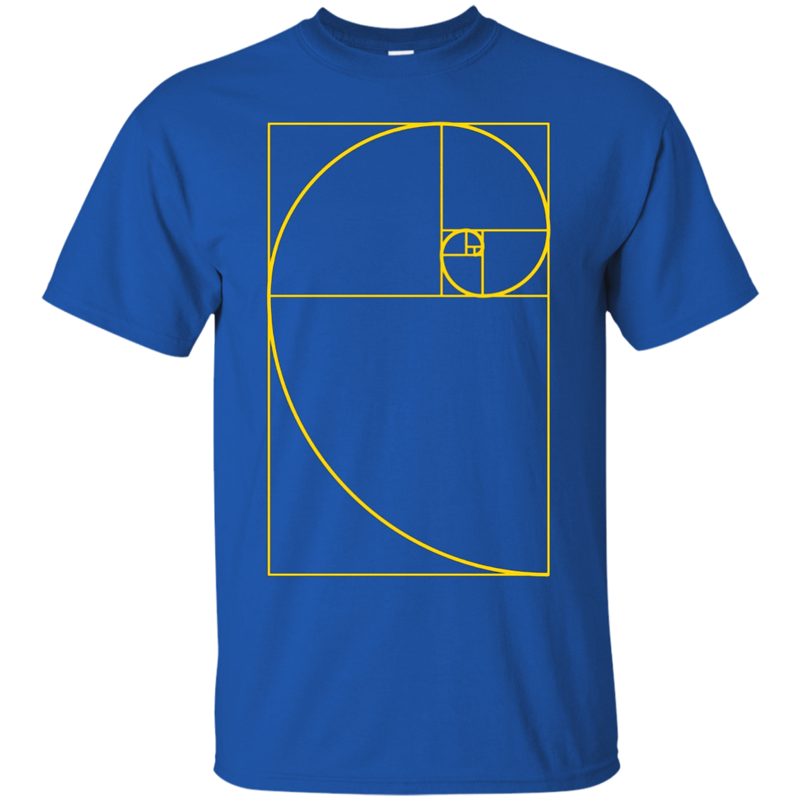 Golden Ratio Spiral T-Shirt Fibonacci Spiral Tee Shirt