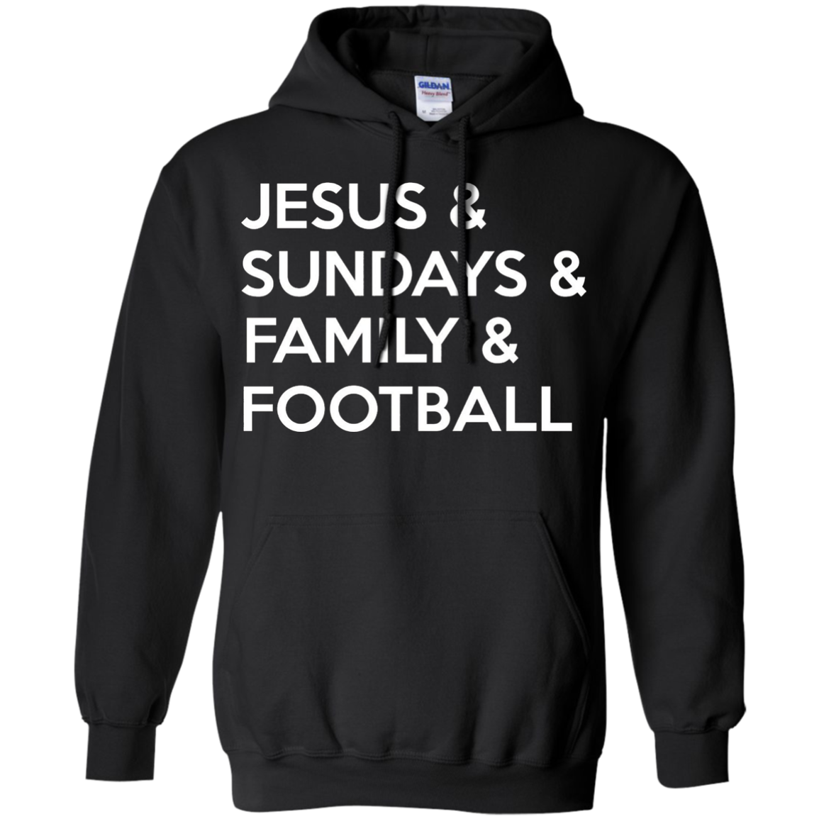Jesus and Sundays and Family and Football TShirt