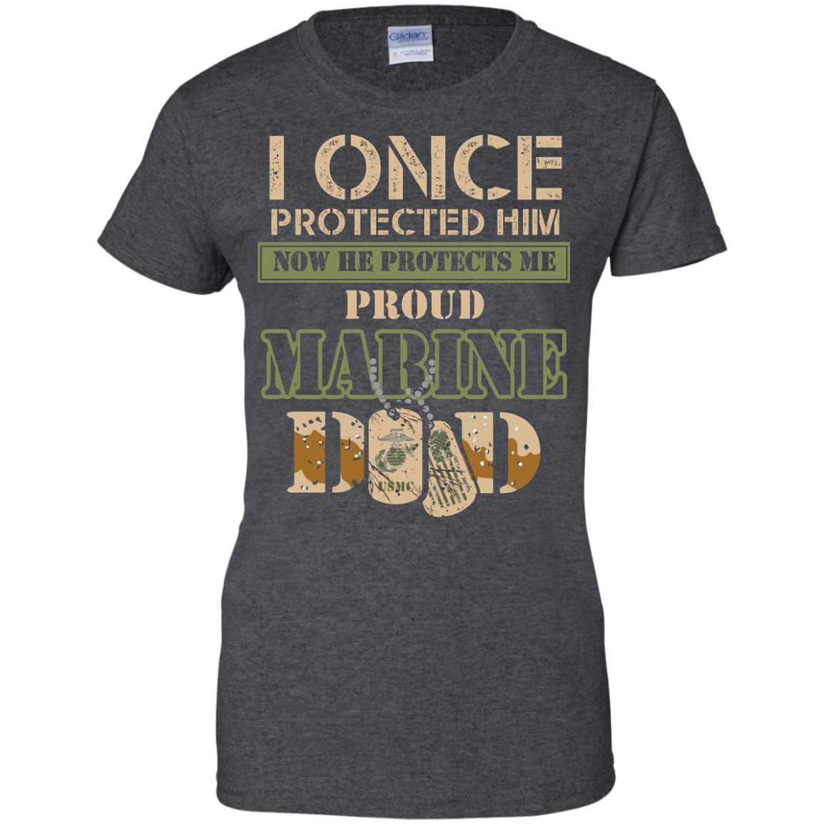 Men's Proud Marine Dad of his Military Son T-Shirt