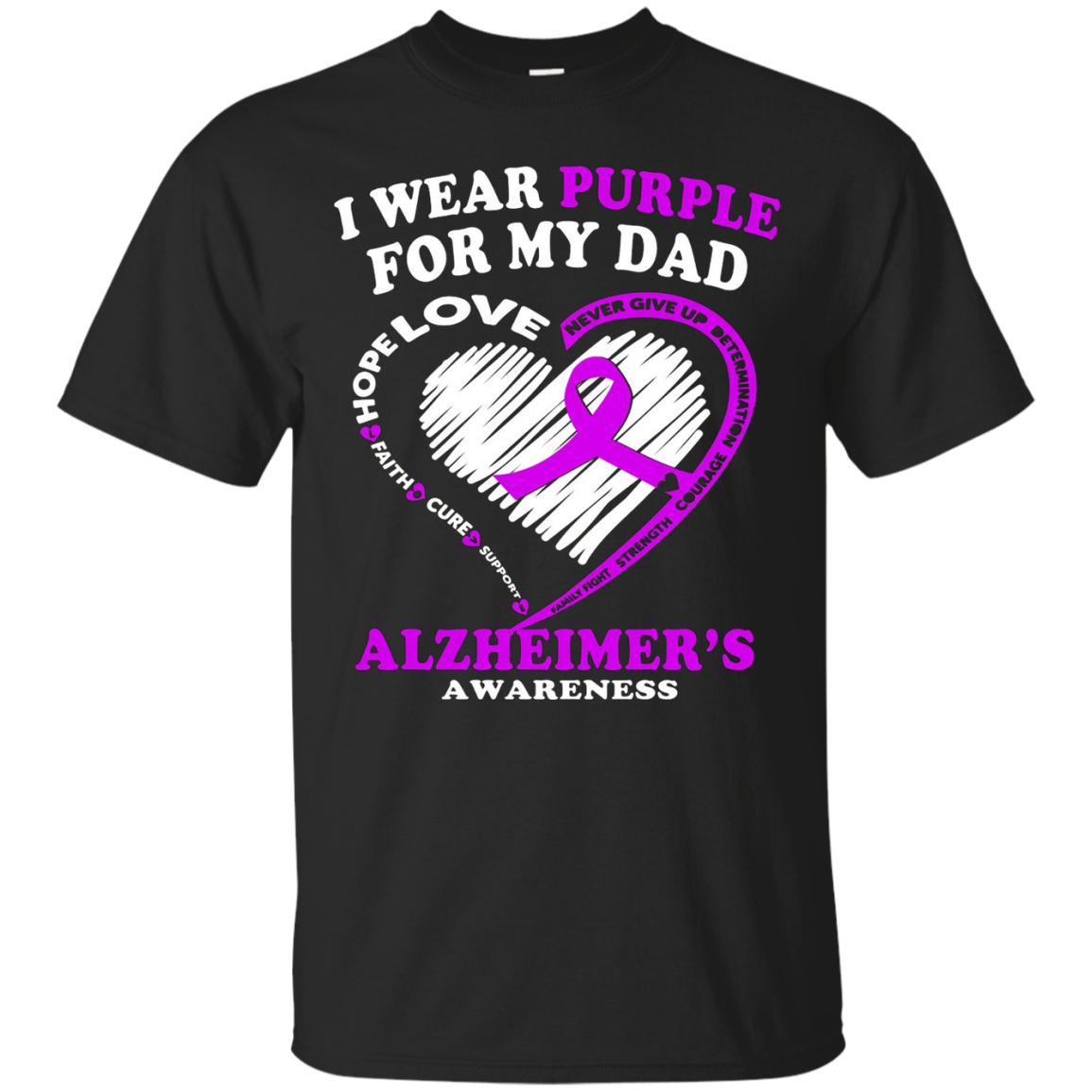 Alzheimers Awareness Shirt - I Wear Purple For My Dad