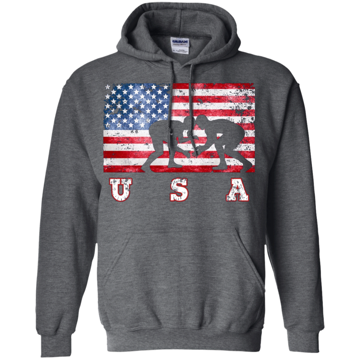 American Flag Wrestling Shirt, Team Training, USA Flag