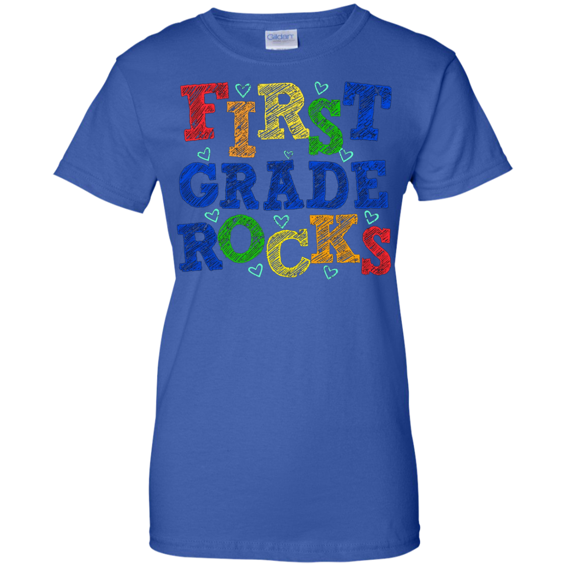 First Grade Rocks Funny Tshirt for Student and Teacher