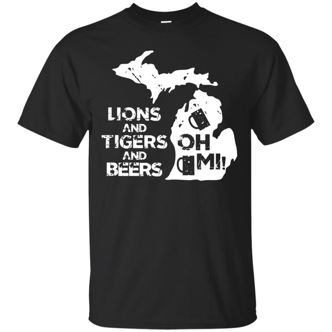 LIONS & TIGERS & BEERS, OH MI! active T-shirt