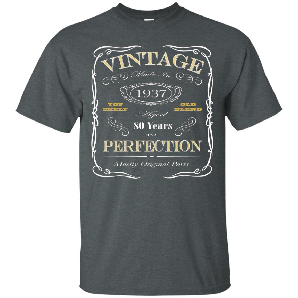 80th Birthday Gift T-Shirt - Born In 1937 - Vintage