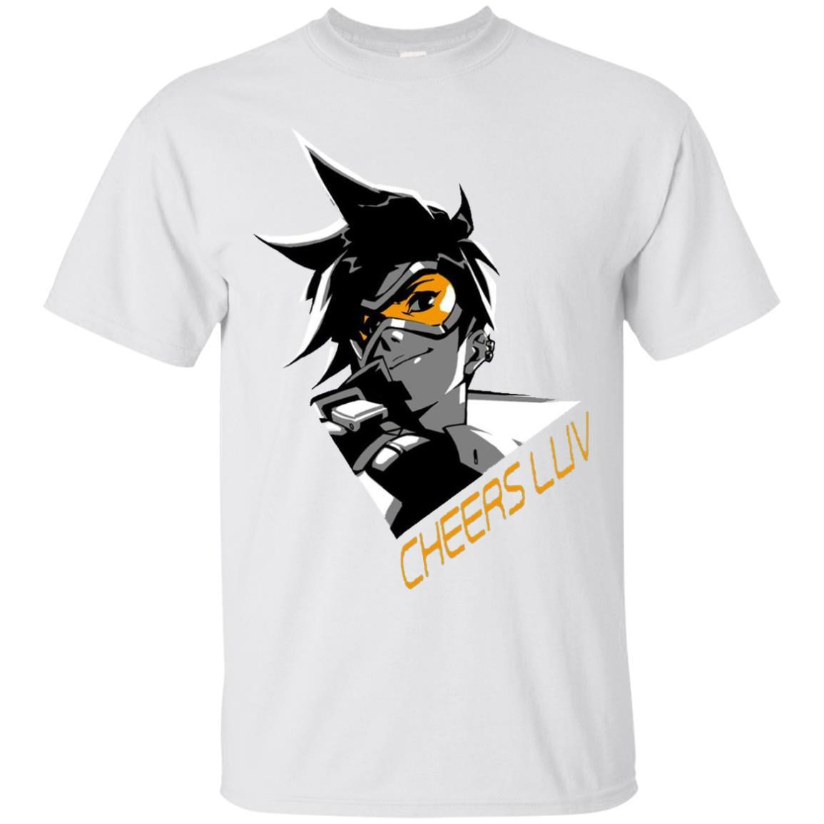 Overwatch Tracer Cheers Spray Tee Shirt