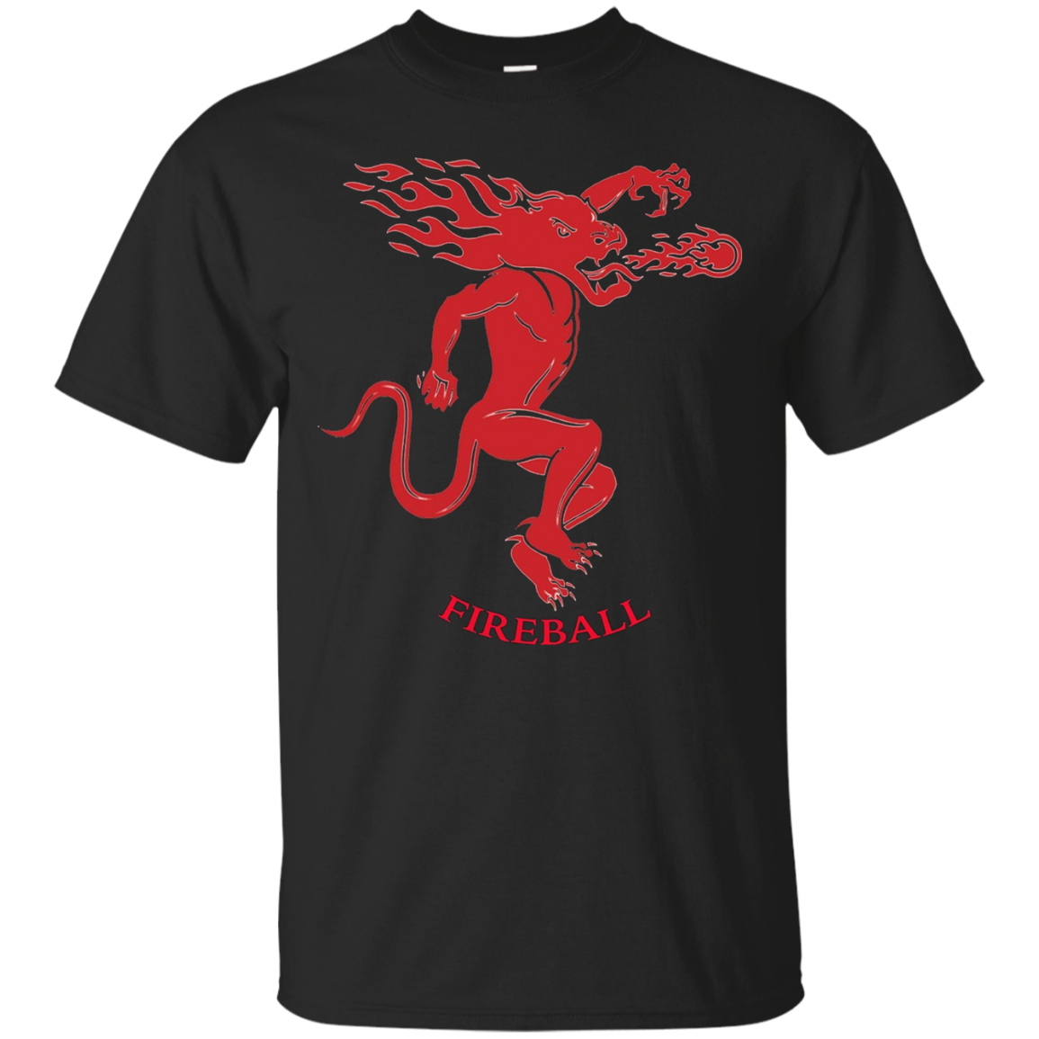 Fireball Cinnamon Whiskey Dragon Tee Shirt - T-Shirt