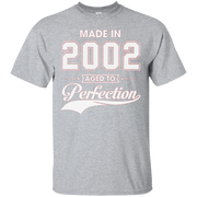 14th birthday gift T-shirt – Made In 2002 Aged To Perfection – T-Shirt