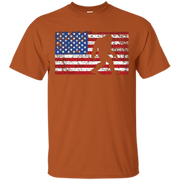 American Flag Bigfoot Shirt, Funny 4th of July Sasquatch – T-Shirt